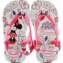 Chinelo Havaianas Baby Minnie - Branco/Pink