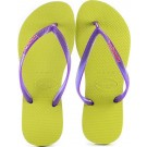 Chinelo Havaianas Slim Logo Pop-Up - Amarelo Neon