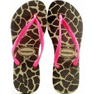 Chinelo Havaianas Slim Animals Fluo - Areia/Pink
