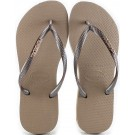 Chinelo Havaianas Slim Logo Metallic - Rose Gold