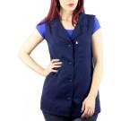 Jaleco/Avental Cavado Enfermeira Padrão *Plus Size* - Azul Marinho