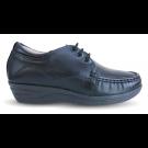 Sapato em Couro Salto Anabela - REF:083 - Preto