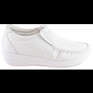 Sapato em Couro Salto Anabela - Branco