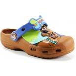 Babuche Infantil Crocs Scooby Doo Retro Wave - Warner Bros Brown / Sea Blue