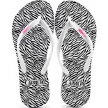 Chinelo Capricho Zebra - Branco