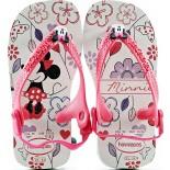 Chinelo Havaianas Baby MinneColeção 2014 - Branco/Pink