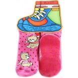 Meia Puket Pansocks Baby - Pink Urso